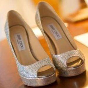 Jimmy Choo Crown Sparkle Heels